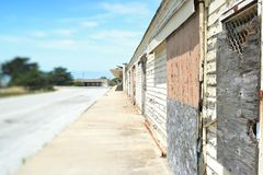Abandoned warehouse. In fort ord Stock Images