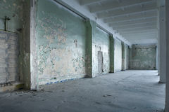 Abandoned Warehouse. Interior of an abandoned warehouse royalty free stock photos