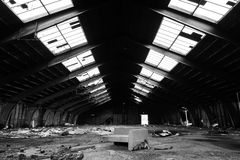 Abandoned warehouse Stock Photo
