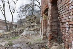 Abandoned warehouses (Paramonovskie) in Rostov-on-Don (1883). 2015 Royalty Free Stock Photo