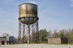 Abandoned Water tower. Rusting water tower at an abandoned government medical facility in Western New York State stock photos