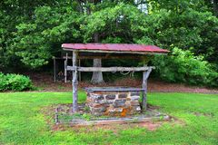 Abandoned Water Well Stock Photo