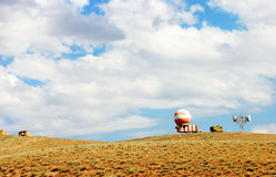 Abandoned weather station. Abandoned meteorological station in mountains. Iran Royalty Free Stock Images