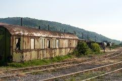 Abandoned weathered grunge wagon Stock Photos