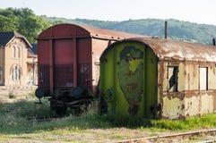 Abandoned weathered grunge wagons Stock Photography