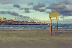 Abandoned weathered lifeguard tower Royalty Free Stock Image