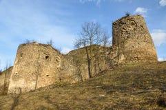 Abandoned ruins. Bologa fortress. Transylvania, Romania. Abandoned, weathered ruins of Bologa fortification. Transylvania, Romania royalty free stock photos