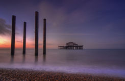The abandoned West Pier, Brighton Royalty Free Stock Images