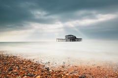 Abandoned West pier Stock Photo