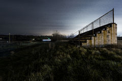 Abandoned West Virginia Motor Speedway - Mineral Wells, West Virginia. Night views from tonight of the abandoned West Virginia Motor Speedway in Mineral Wells stock photo