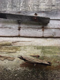 Abandoned wharf detail Stock Image