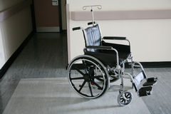 Abandoned wheelchair Royalty Free Stock Photo