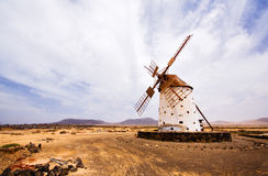 Abandoned windmill, Spain. Abandoned windmill near Cotillo, Fuerteventura royalty free stock images