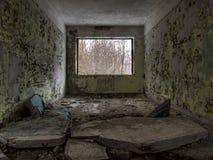 Abandoned window interior Stock Photography
