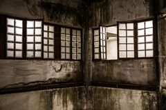 Abandoned windows stock photos