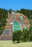 Abandoned Winter Olympic Games Ski Jumping Springboard Stock Photography