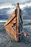 Abandoned wood fishing boat Stock Images