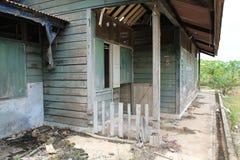 Abandoned wood house outside Royalty Free Stock Photo