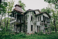 Abandoned wooden antique vintage mansion royalty free stock image