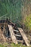 Abandoned wooden bridge Stock Photos