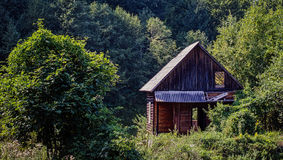 Abandoned Wooden Cabin Royalty Free Stock Images