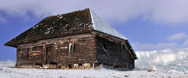 Abandoned wooden cottage Royalty Free Stock Image