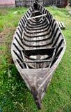 Abandoned wooden fishing boat Stock Image