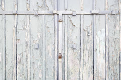 Abandoned Wooden gray door Royalty Free Stock Photos