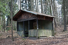 Abandoned wooden house Stock Images