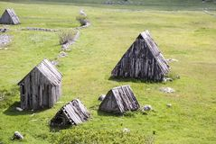 Abandoned wooden house. Durmitor Montenegro royalty free stock photography