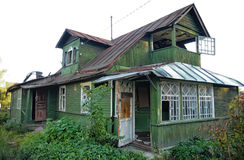 Abandoned wooden house Royalty Free Stock Images