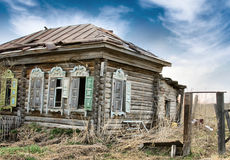 Abandoned Wooden House in Siberia Royalty Free Stock Image