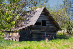 Abandoned wooden house. Stock Photos