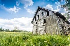Abandoned wooden house Royalty Free Stock Image