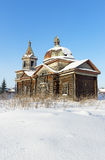 Abandoned wooden orthodox church Royalty Free Stock Photography
