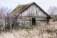 Abandoned wooden structure. Village Tanayka. On the way to the m Stock Image