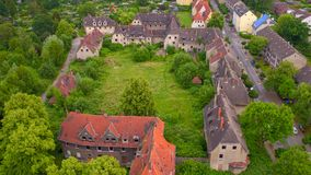Abandoned workers settlement in Gladbeck, North Rhine Westphalia in Germany stock images