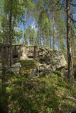 Abandoned World War II bunker in Vaermland, Sweden. It is called Skans 176 Dypen.  Stock Photo