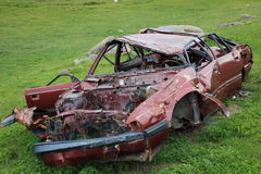 Abandoned wrecked car Royalty Free Stock Photography