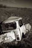 Abandoned wrecked vehicle Royalty Free Stock Images