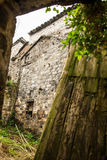 An Abandoned Yard in a Chinese village Royalty Free Stock Photography