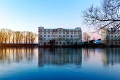 Abandones byggnad i Wilhelmshaven Arkivbild
