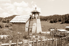 Abandonet狂放的西部电影布景,克罗地亚 库存照片