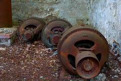 Abandoning engines Royalty Free Stock Image