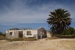 Abandonné à la maison au Mexique près de La Paz Image libre de droits