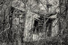 Abandonné à la maison dans les sud TX 1b&W Photo stock