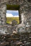 Abandonné à la maison sur la grande île de Blasket Images libres de droits