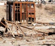 Abandonné à la plage Image stock