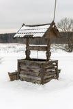 Abandonné bien en hiver Image stock