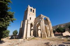 Abandonné de l'église de Santa Eulalia Palenzuela Images stock